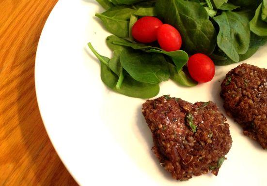 Black bean quinoa 'burgers' 1