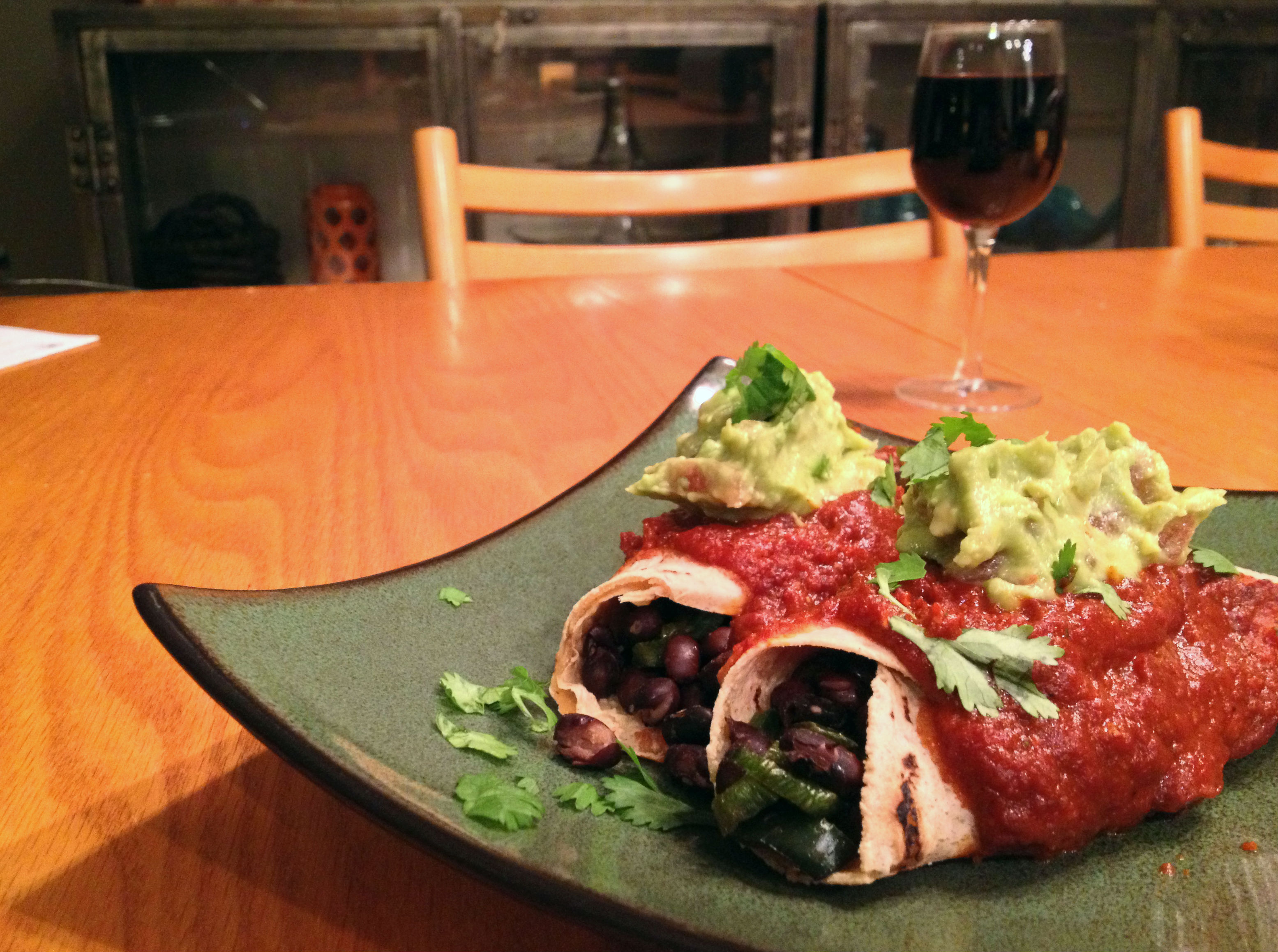 black bean vegan enchiladas 1
