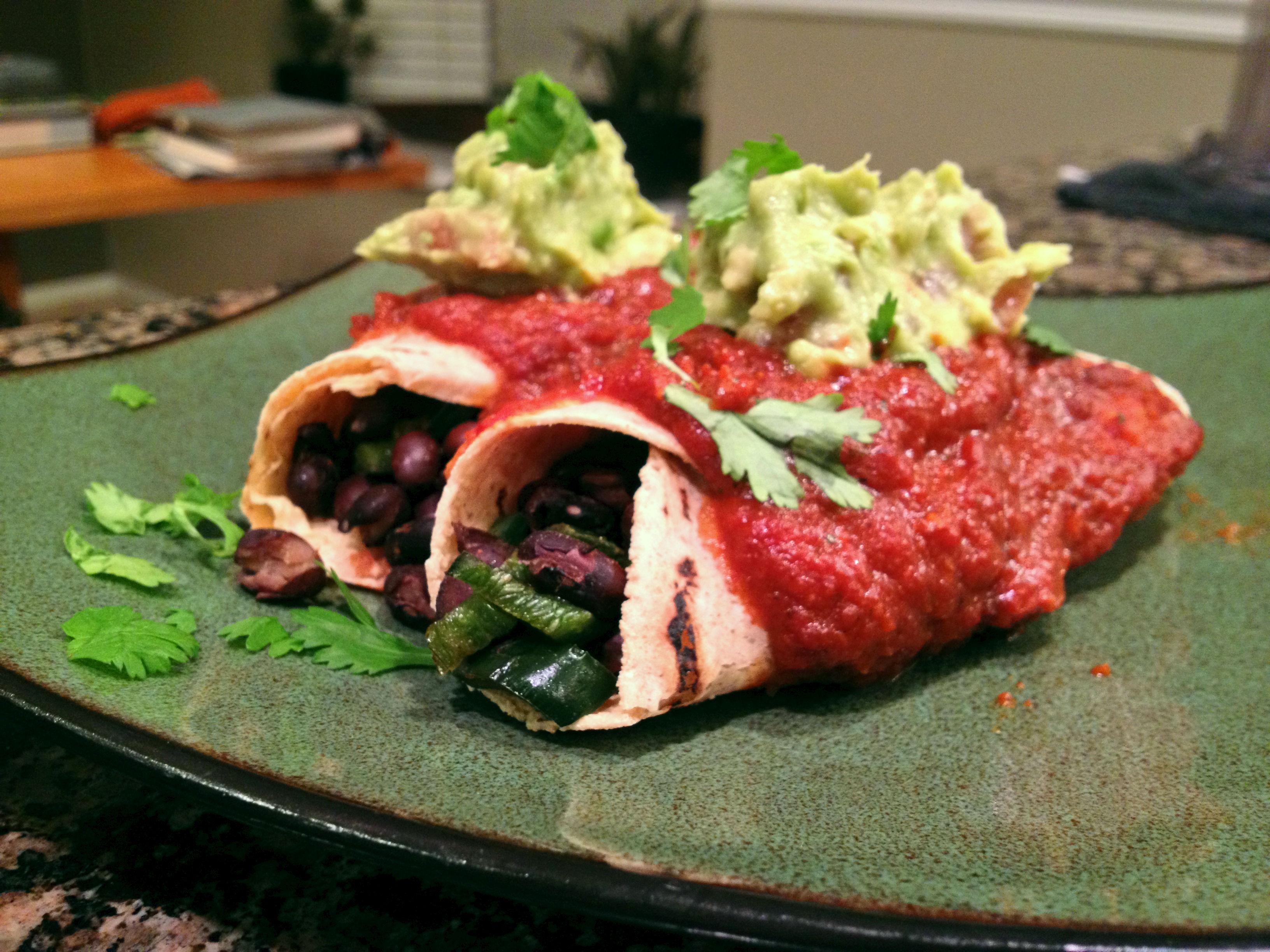Black Bean Vegan Enchiladas (Learn. Act. Live. Love.)