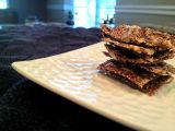 Healthy Snack {Flax Seed Crackers with Rosemary and Sunflower Seeds}
