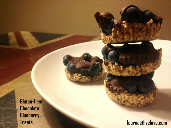 Gluten-free Chocolate Blueberry Treats