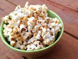 Hello, Deliciousness! {Maple Almond Butter Popcorn}