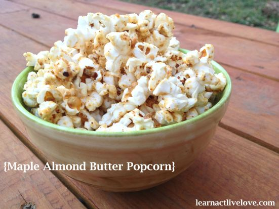 Maple Almond Popcorn!
