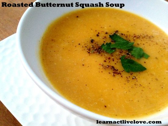 Roasted Butternut Squash Soup title