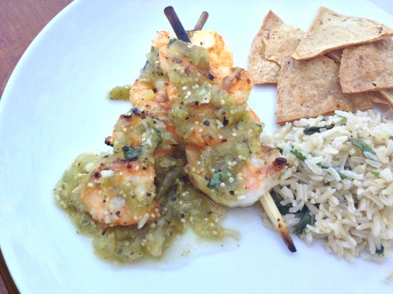 Tomatillo Shrimp 2